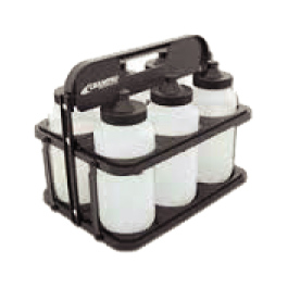 Plastic Bottle Holder & 6 Bottles-139