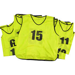 15 Numbered Bibs- Sports Training Bibs - Suitable for Soccer, hurling, Gaelic Football, Rugby, Hockey
