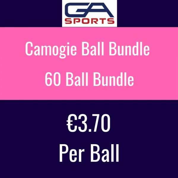 60 Camogie Sliotar bundle - mix and match from size 4, size 3 and wall balls