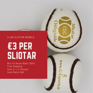 42 dozen Sliotar Bundle - Club Offers - Choose from Size 3, Size 4 or Size 5 Hurling Match Balls