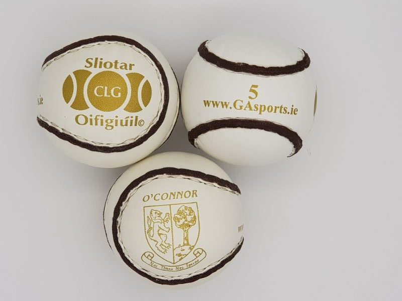 O'Connor Gold Sliotar - Size 5 Match Ball - Hurling Equipment by GA Sports - photo of 3 balls